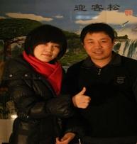 刘凤勇与中央台记者留念
