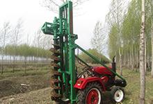 油炸杆挖坑机四轮车型安装2万元