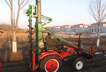 电线杆挖坑机四轮车型安装1.8万1米深