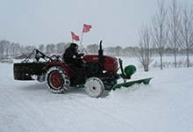 江苏我爱发明雪路旋风 剁冰机扫雪机 小型扫雪机 推雪铲前推雪后剁冰