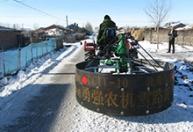 江苏剁冰机专业生产 拖拉机剁冰机 扫雪机抛雪机 四轮车配套除雪机